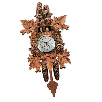 Wooden Cuckoo Clock Decorative Wall Clock with Quartz Movement Gift N