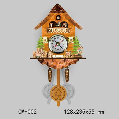 Wooden Cuckoo Clock Decorative Wall Clock with Quartz Movement Gift B