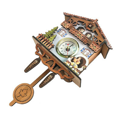 Wooden Cuckoo Clock Decorative Wall Clock with Quartz Movement Gift D