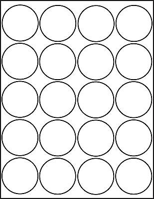 graphic relating to Printable Label Sheets referred to as 500 PRINTABLE LASER Shiny White Spherical Stickers 2 inch