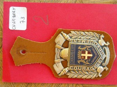 740. Insigne Sapeur Pompier Pucelle Obsolète 73 CHAMBERY N°2.
