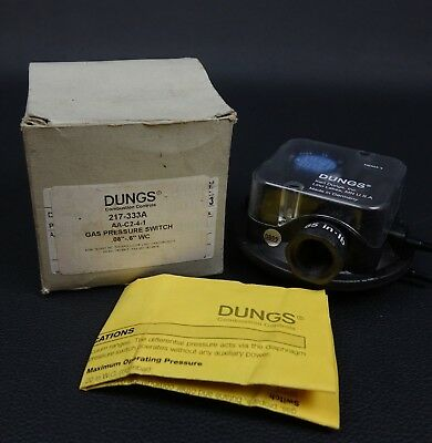 "Dungs 217-333A Gas Pressure Switch .08""-.6"" WC Combustion Control"