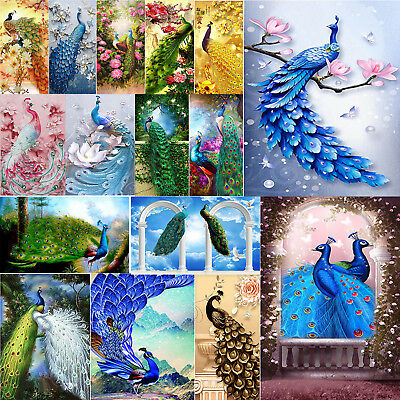 5D DIY Full Drill Diamond Painting Peacock Cross Stitch Embroidery Craft Decor
