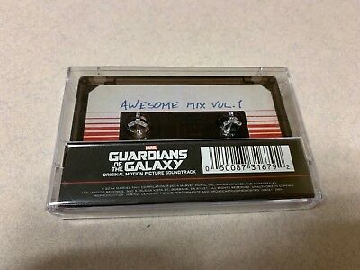 AWESOME MIX VOL 1 Guardians of the Galaxy Soundtrack Cassette w Digital Download