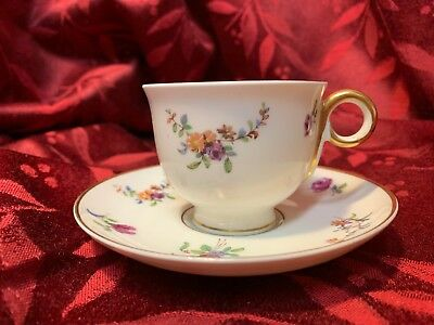 Vintage Haviland Mignonette Demitasse Cup and Saucer Set