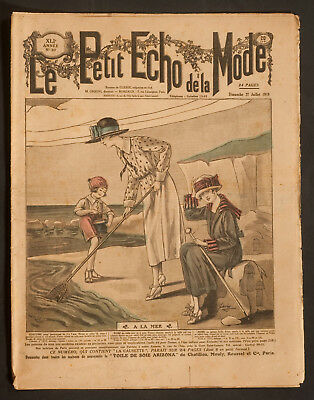 'le Petit Echo De La Mode' French Vintage Newspaper Holiday Issue 27 July 1919