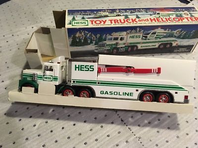 NIB 1995 Hess Toy Truck and Helicopter Rotors Lights BRAND NEW Collectible