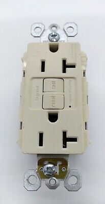 Legrand Pass Seymour 2097TRLA Duplex 20A Self Test GFCI LIGHT ALMOND FREE SHIP