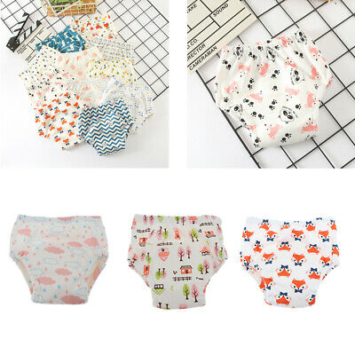 Baby Toddler Girls Boys 6 Layers Cartoon Waterproof  Underwear