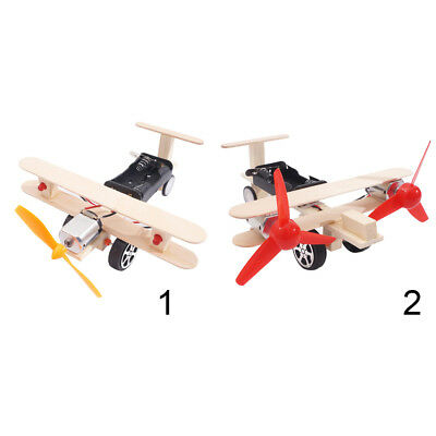 DIY Technology Science Kits Electric 3D Assembly Plane Model Educational Toy
