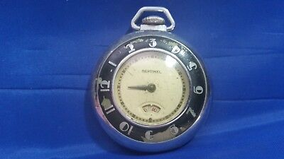 Vintage Sentinel Open Face Pocket Watch for parts