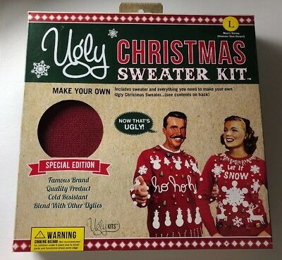 Ugly Christmas Sweater Kit Diy Size L Special Edition Nib Everything