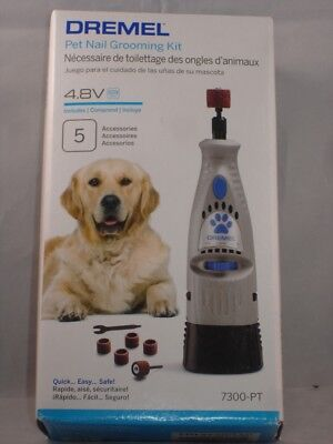 NEW Dremel Pet Nail Grooming Kit 7300-PT 4.8V Battery Includes 5 Accessories