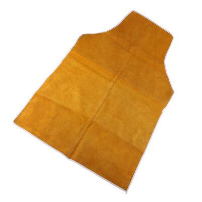 90cm Welding Coat Apron Protective Leather Safety Heat Insulation -Yellow