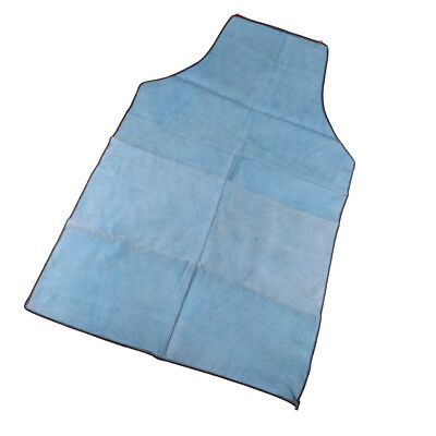 90cm Welding Coat Apron Protective Leather Safety Heat Insulation - Blue