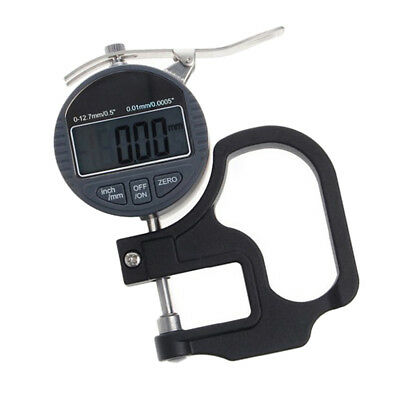 0.01mm Digital Thickness Gauge Meter 12.7mm Portable Electronic Micrometer