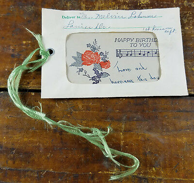 1950s Miller's Flower & Gift Shop Madison TN Tennessee Floral Gift Card Envelope