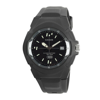 Casio Enticer Men's Quartz 10-Year Battery Black Resin 41.5mm Watch MW600F-1AV
