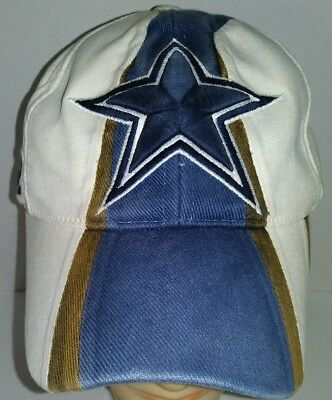 4e66ee6d ADULT DALLAS COWBOYS Cap Reebok White Hat Adjustable One Size Star NFL  Equipment