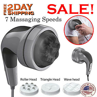 Handheld Electric Massager Body Back Neck Foot Vibrating Therapy Machine