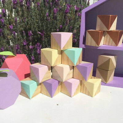 Solid Wood Cubes Letter Blcok Baby Pet Toy DIY Crafts Blocks Cube 5x5x5cm