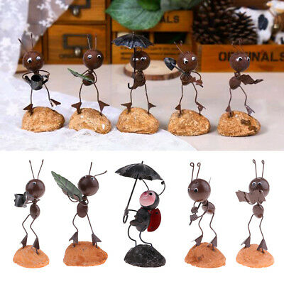 Durable Iron Animal Sculpture Ant Ornament for Table Desktop 15cm Height