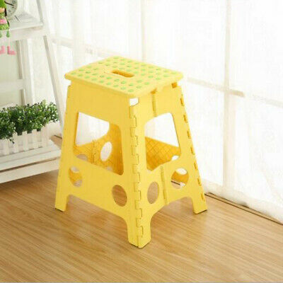 Multi Purpose Plastic Folding Step Stool Home Kitchen Outside Foldable Seat