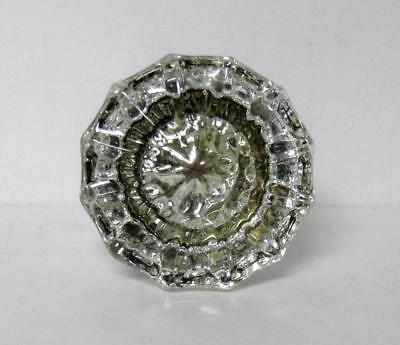 Beautiful Antique 12 Side Point Glass Door Knob Vintage ~ Very Nice! #2