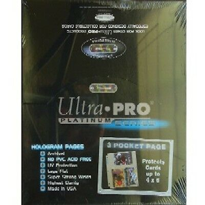 25 ULTRA PRO 3-POCKET Pages 4 x 6 Sheets Protectors New photo postcard refill