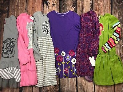 Lot of Girls Dresses Fall Winter Gymboree Lands End Size 7/8