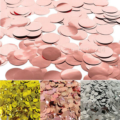 2700x Silver Rose Gold Pink Glitter Round Table Confetti Party Balloon Sequins