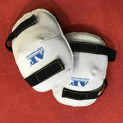 1 Pair PROFESSIONAL HEAVY DUTY Leather KNEE PAD PADS KNEEPADS
