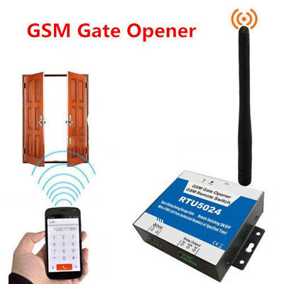 RTU5024 GSM Door Gate Opener Auto Wireless Remote Control Switch Free Call SMS