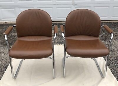 Vintage Mid-Century modern Urethane chairs - 2 chairs Beige Rare and unique!