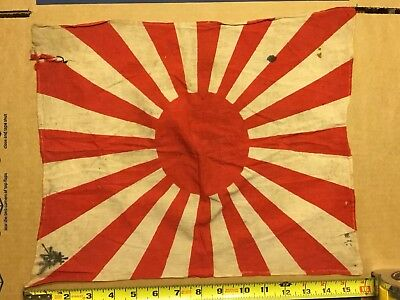 Vintage Original WW2 Imperial Japanese Flag Rising Sun Rifle Flag? SEE PICTURES