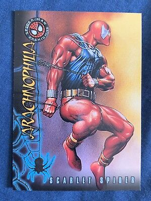 Marvel Spider-Man Premium '96 Fleer Skybox Card #3 Scarlet Spider