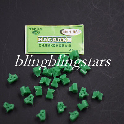 40Pcs Silicon Rubber Elastic Wedges Add On Dental Contoured Matrices Triangle