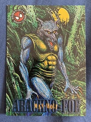 Marvel Spider-Man Premium '96 Fleer Skybox Card #19 Man Wolf