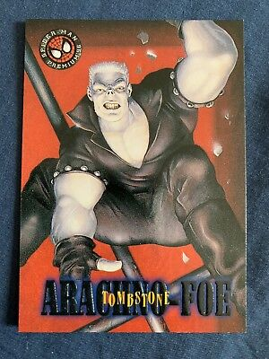 Marvel Spider-Man Premium '96 Fleer Skybox Card #33 Tombstone