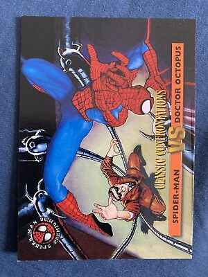 Spider-Man Premium '96 Fleer Skybox Classic Confrontations Card #38 Dr. Octopus