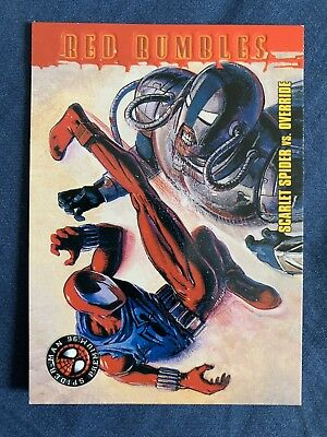Spider-Man Premium '96 Fleer Skybox Red Rumbles Card #47