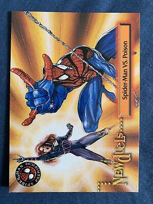 Spider-Man Premium '96 Fleer Skybox Card #49 Poison