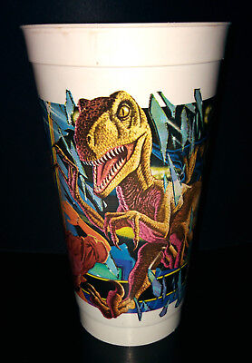 Vaso Jurassic Park Parque Jurásico McDonalds Velociraptor Collectible Happy Meal