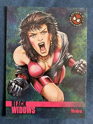 Spider-Man Premium '96 Fleer Skybox Black Widows Card #58 Medea