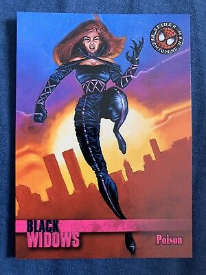 Spider-Man Premium '96 Fleer Skybox Black Widows Card #59 Poison
