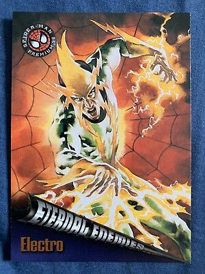 Spider-Man Premium '96 Fleer Skybox Eternal Enemies Card #69 Electro