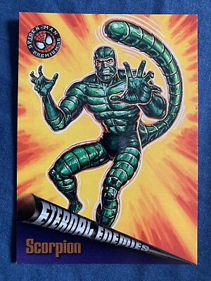 Spider-Man Premium '96 Fleer Skybox Eternal Enemies Card #71 Scorpion