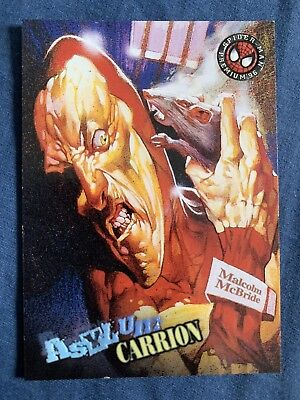 Spider-Man Premium '96 Fleer Skybox Asylum Card #74 Carrion