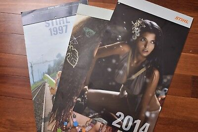STIHL Calendars,  New Old Stock, 1980s, 1990s and 2000s