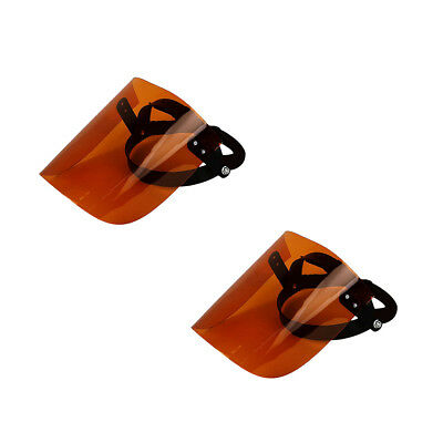 2Pcs Clear Flip Up Face Shield Screen Full Safety Mask Eye Protector Tawny